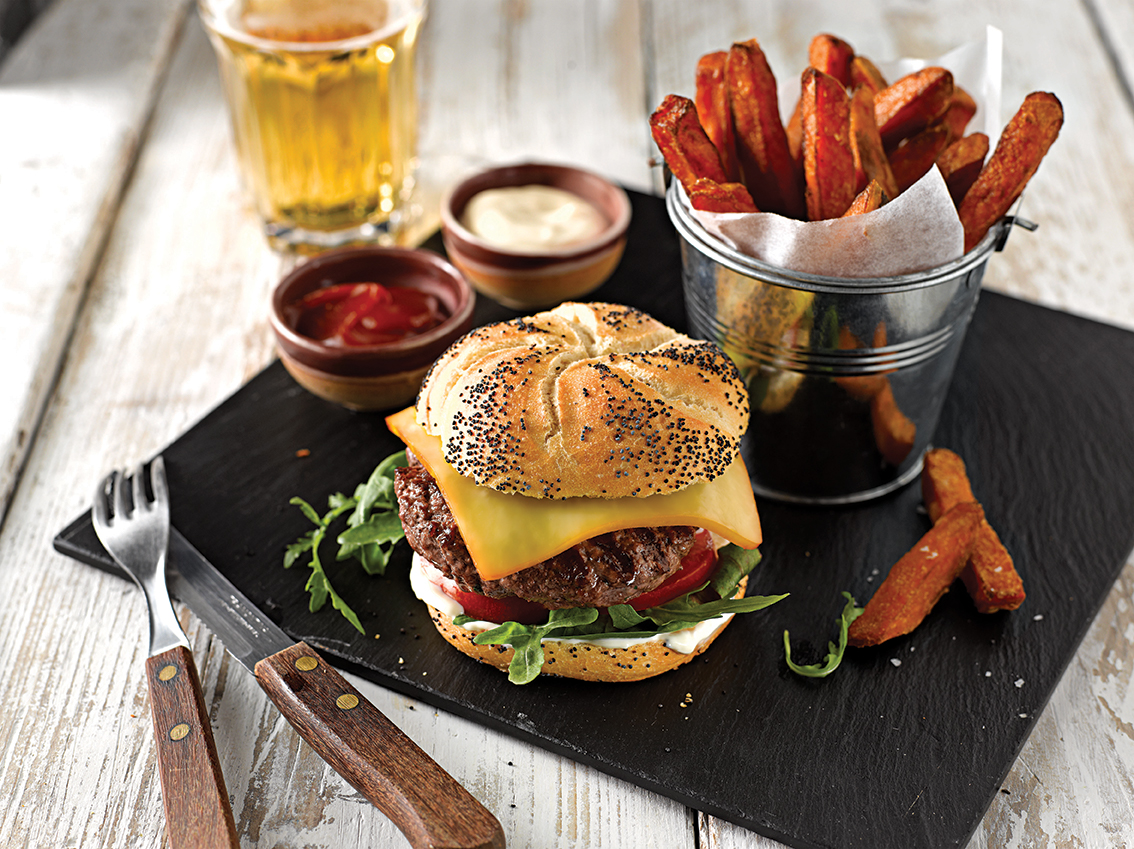 Extons Foods - Oak Smoked Cheese Burger 72dpi